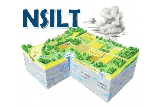 NSILT logo; three dimensional view of aquifer