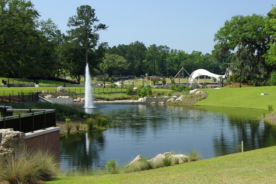 Image of Cascades Park Stormwater Project in Tallahassee, FL.