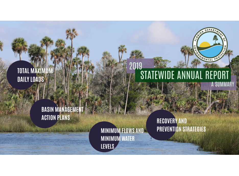 2019 Statewide Annual Report on Water Quality and Quantity, including Total Mazimum Daily Loads, Basin Management Action Plans, Minimum Flows and Water Levels, and Recovery and Prevention Strategies