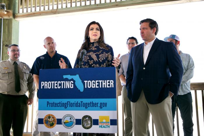 Governor, First Lady and Noah Valenstein announce dashboard launch